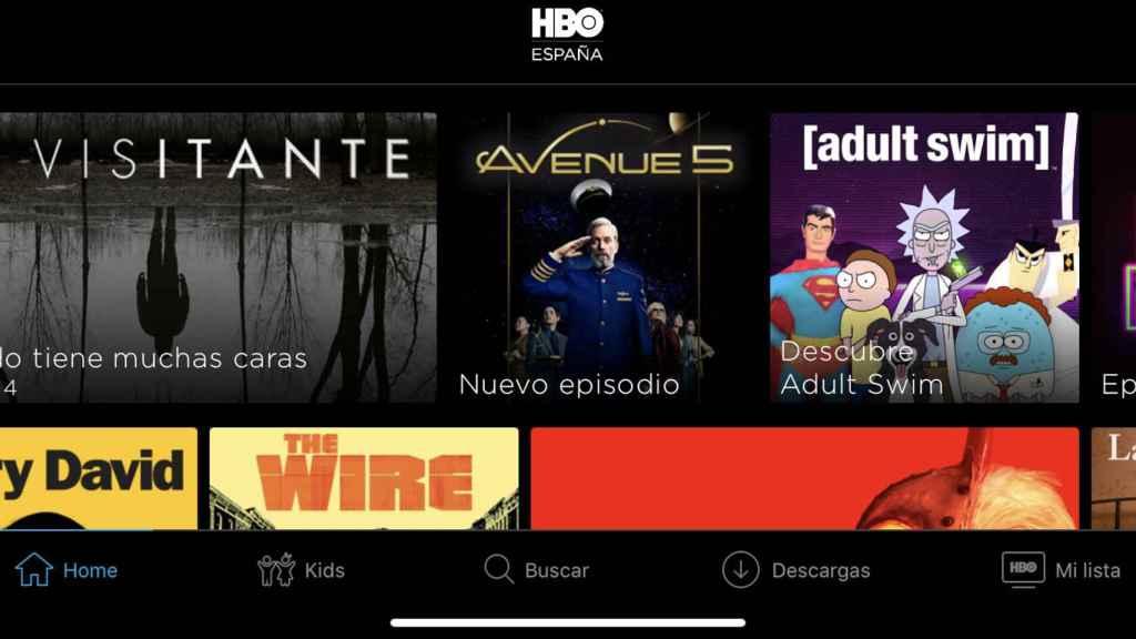 App de HBO con la nueva opción de descarga