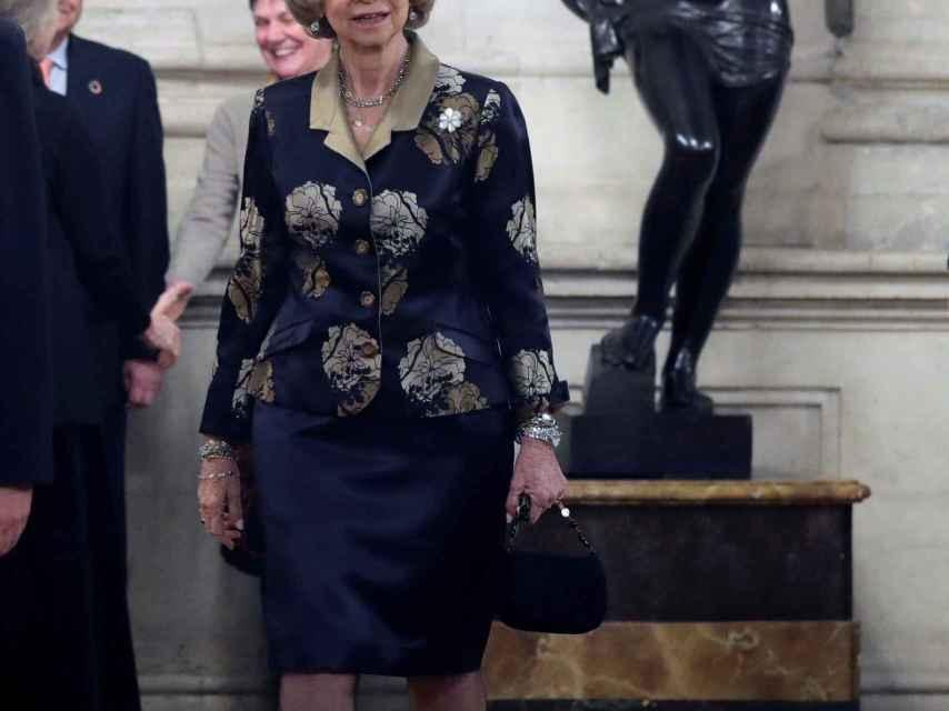 Sofía, durante el concierto celebrado este martes en homenaje a las víctimas del Holocausto.