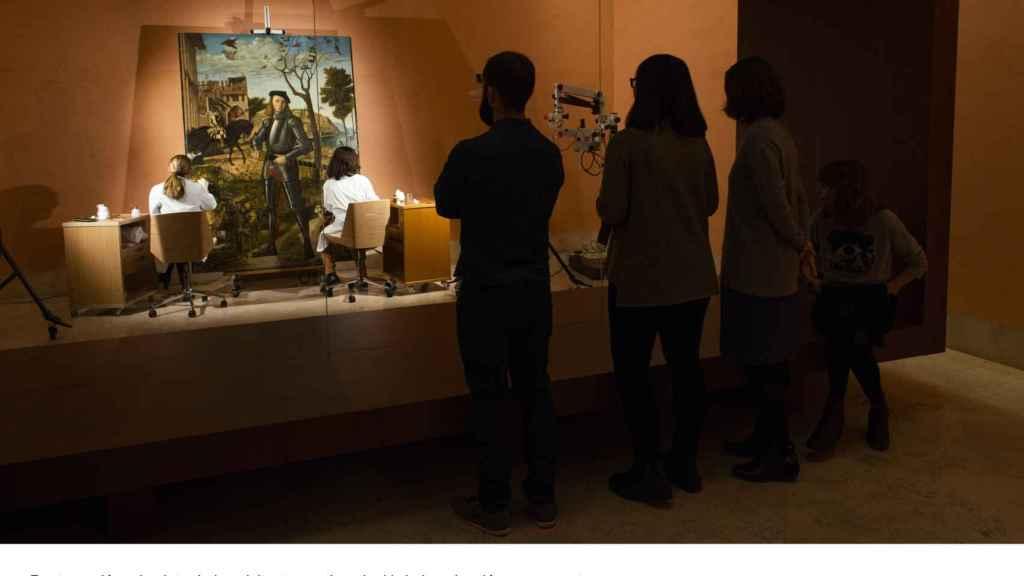 Así podrán contemplar los visitantes los trabajos de restauración.