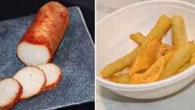 Lomo y patatas fritas elaborados con pescado. Compass Group.