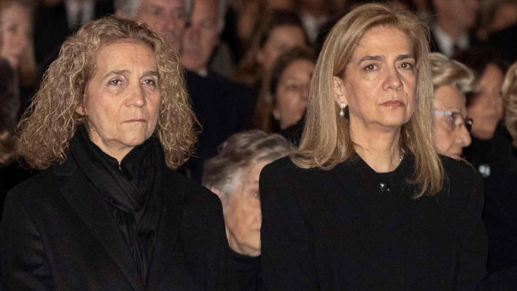 El aspecto de las hermanas del Rey ha llamado la atención por su evidente pérdida de peso.