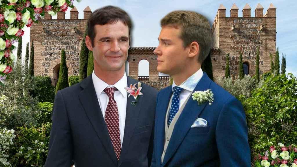 José Bono Jr. y su futuro marido Aitor Gómez, en un montaje de JALEOS.