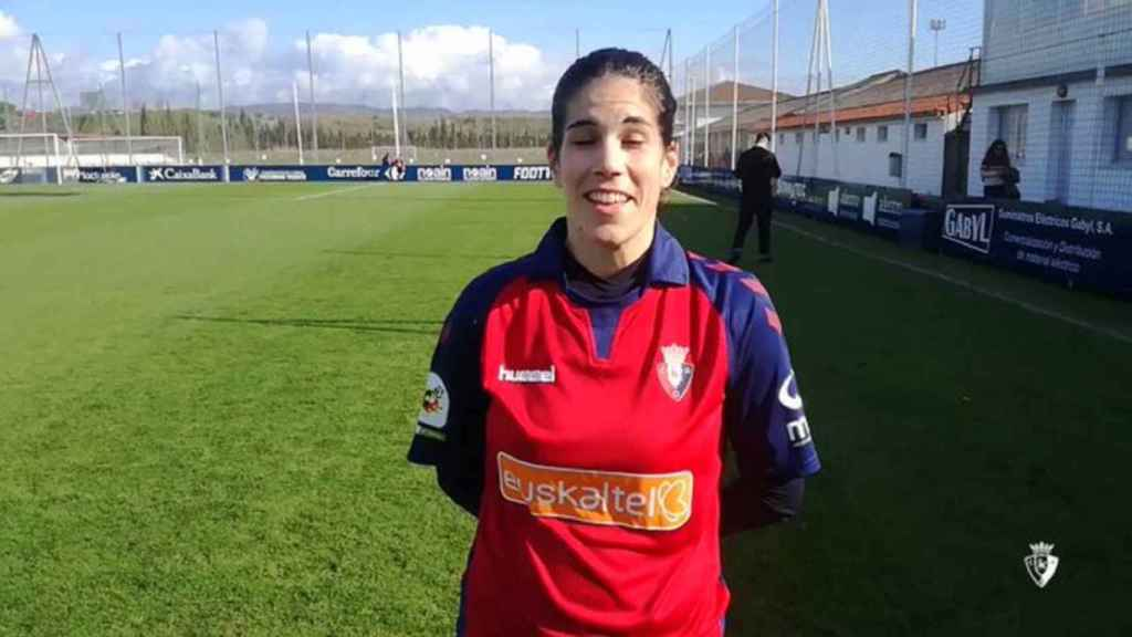 La jugadora del Osasuna Maider Irisarri