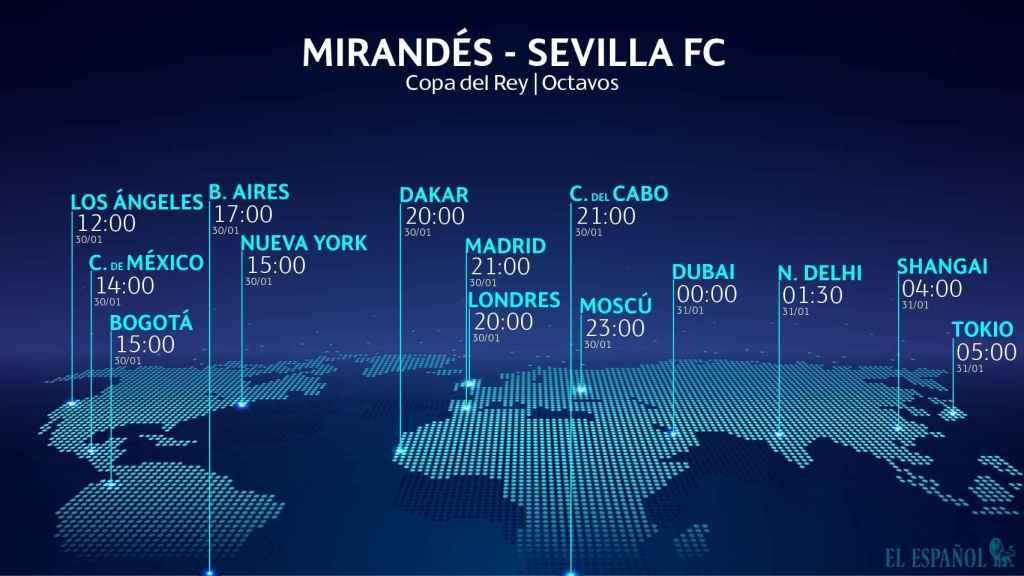 Horario Mirandés - Sevilla