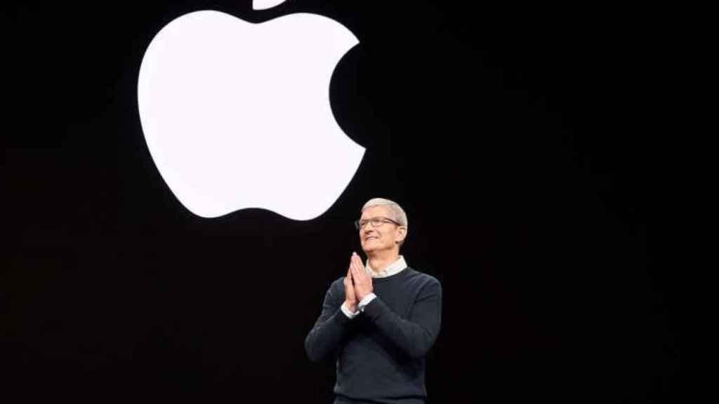 Tim Cook, durante la presentación del iPhone 11 en California.