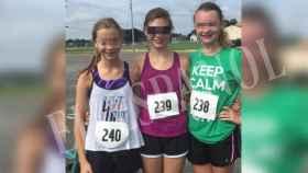 Las norteamericanas Olivia, Julia y Claire, son muy aficionadas al deporte en Ohio.