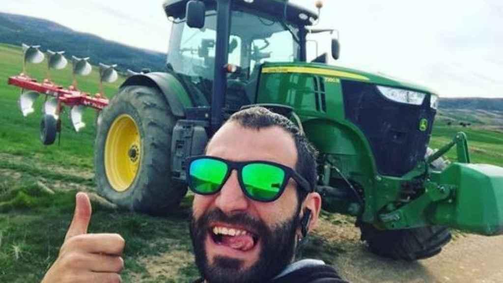 Alejandro Aguado, agricultor enfadado con la situación del campo.