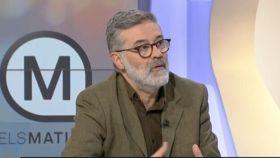El diputado de la CUP en el Parlament, Carles Riera, en TV3.