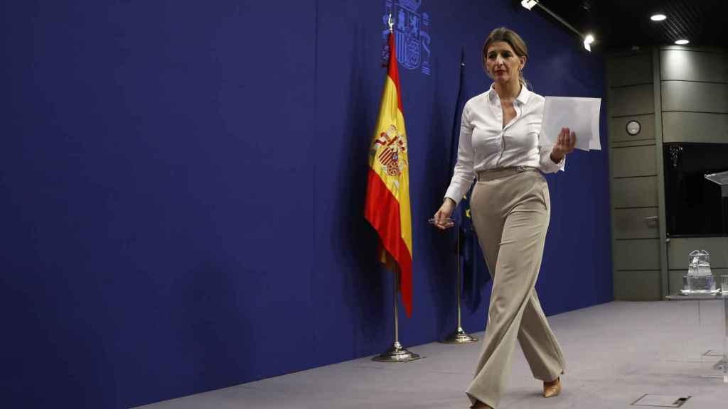 La ministra de Trabajo, Yolanda Díaz, en un acto institucional.