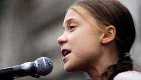 Greta Thunberg en Lausana, Suiza.