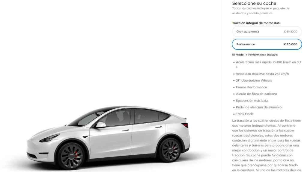 Opciones de compra del Tesla Model Y