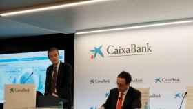 Jordi Gual y Gonzálo Gortázar, presidente y CEO de CaixaBank.