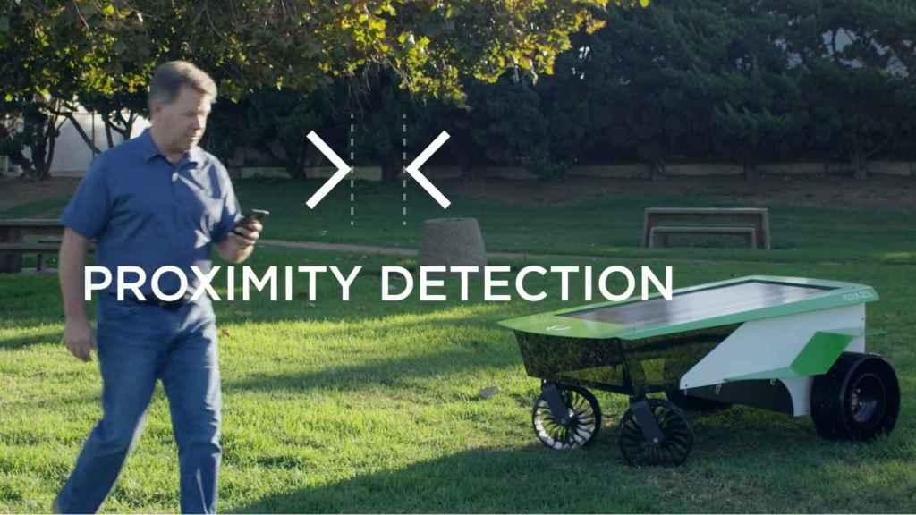 Sensor proximidad de cortacésped autónoma