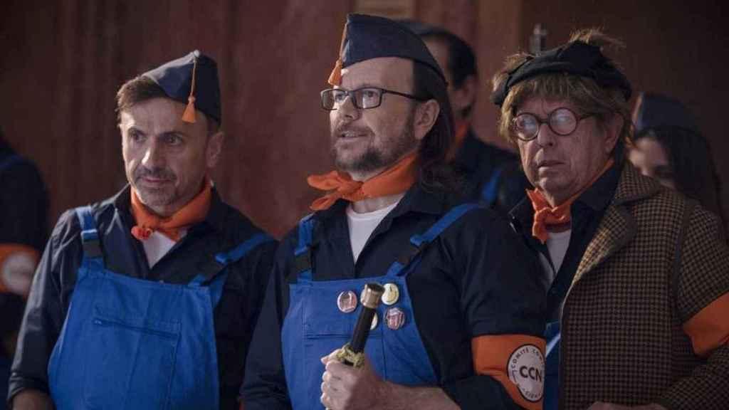 José Mota junto a Santiago Segura y el Señor Barragán en el especial de Nochevieja de TVE de 2019