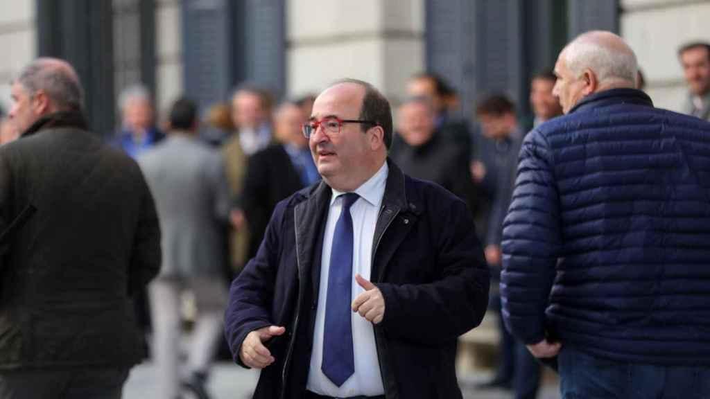 Miquel Iceta, en el Congreso de los Diputados el día en el que Pedro Sánchez fue investido.