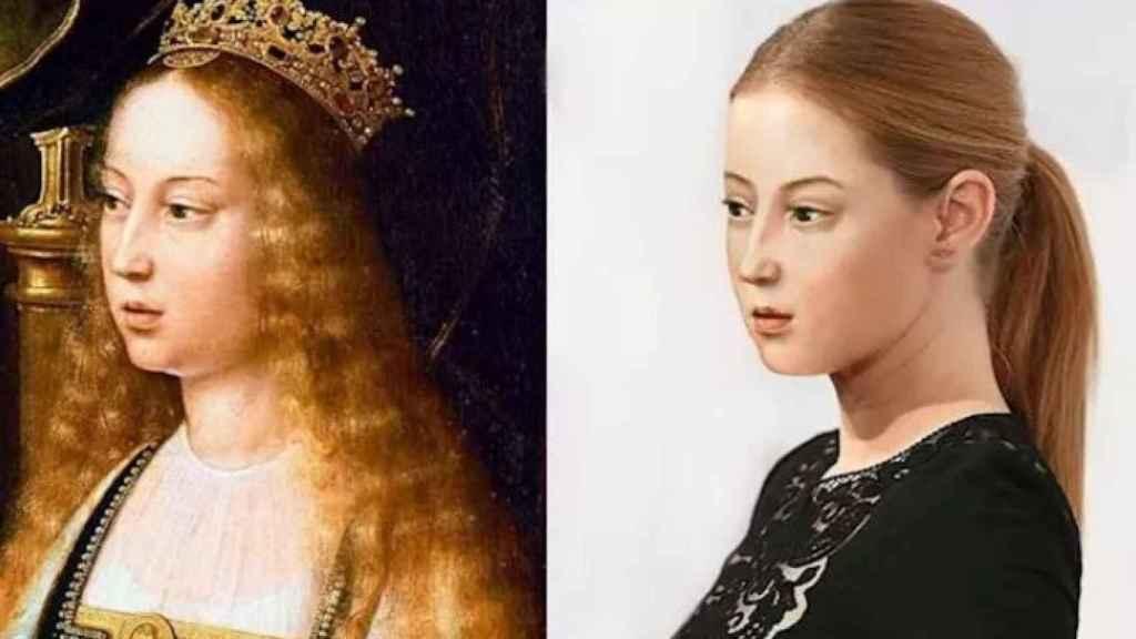 La simulación de la reina Isabel de Castilla en nuestros días.