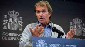 Fernando Simón, este viernes, durante una rueda de prensa para informar sobre el coronavirus.
