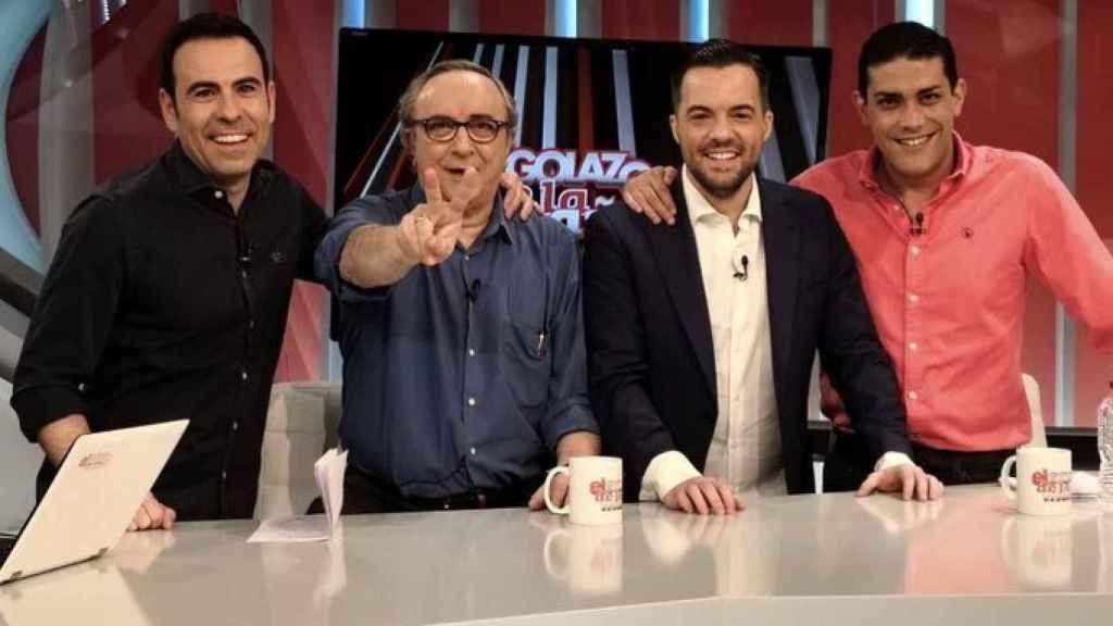 Felipe del Campo, junto a Pedro Pablo Parrado, Jorge Calabrés y Nacho Peña