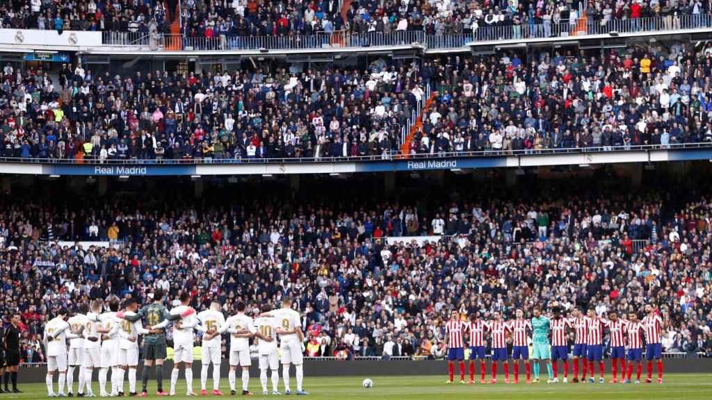 Minuto de silencio en el Santiago Bernabéu en honor de Kobe Bryant