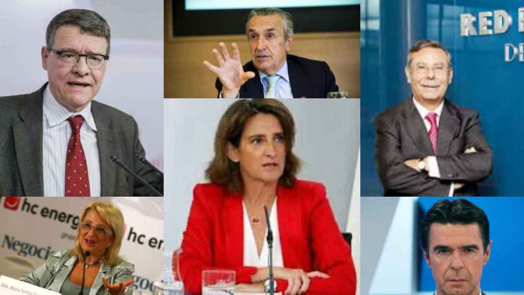 Jordi Sevilla, Maite Costa, José Mª Marín Quemada, Teresa Ribera, José Folgado y José Manuel Soria.