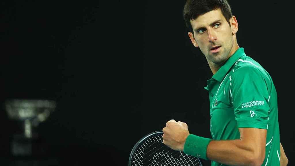 Djokovic, durante la final del Abierto de Australia