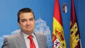 El consejero de Agricultura, Francisco Martínez Arroyo, presenta la campaña del Queso Manchego en el Metro de Madrid