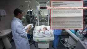 Imagen de archivo. Documentos sobre el diagnóstico del bebé de 13 meses.