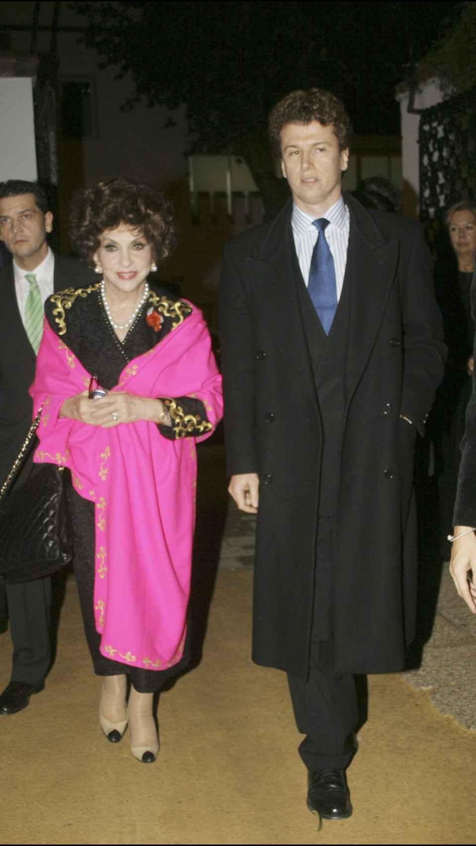Gina junto a Rigau en una imagen tomada en 2005.