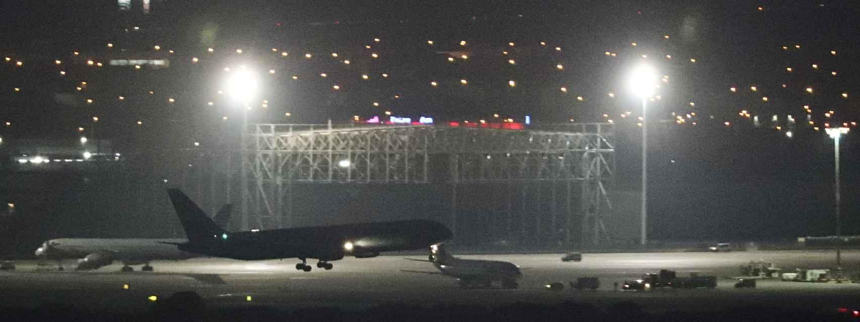 El avión de Air Canada que ha aterrizado en Barajas.