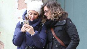 Sandra Barneda y Nagore Robles en una imagen de archivo.