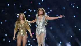 Shakira y Jennifer López, durante el intermedio de la Superbowl de 2020