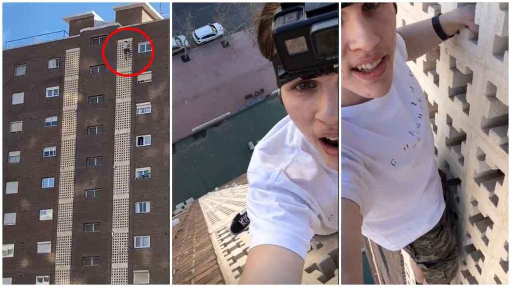 El hombre escaló un alto edificio de la ciudad valenciana de Benidorm.