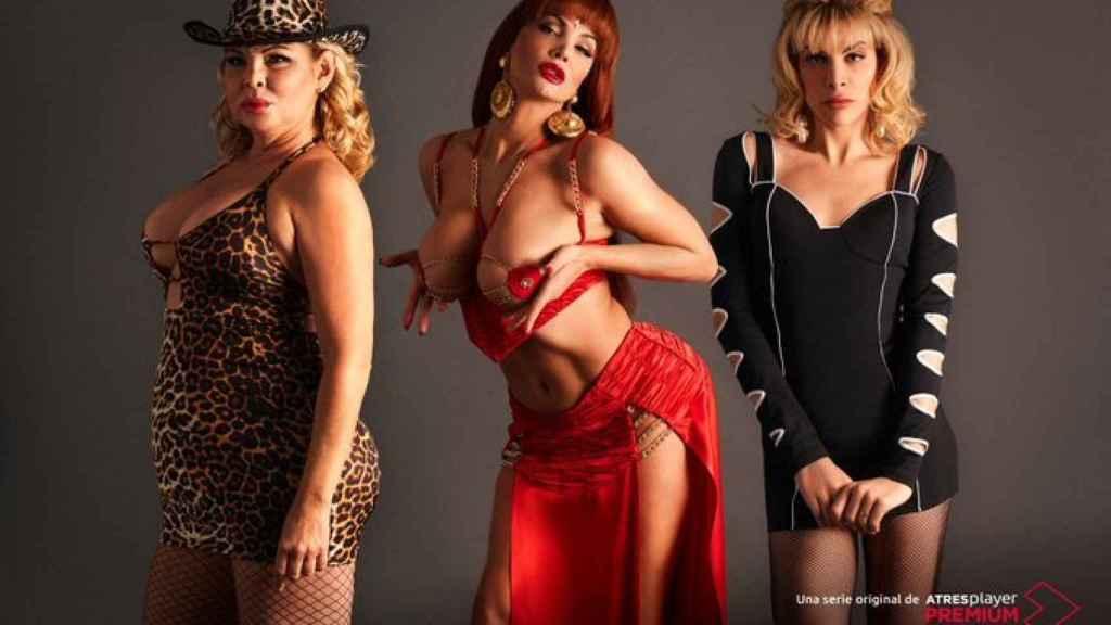Detalle de las tres actrices que interpretarán a 'La Veneno'.