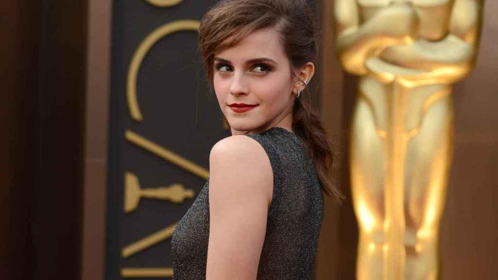 Watson durante la alfombra de los Oscar en 2014.