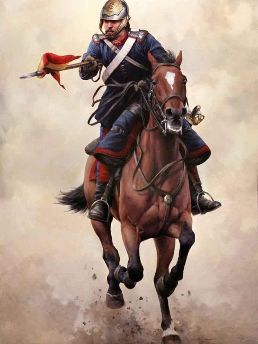 'Farnesio, por España, cabalga y carga', de Ferrer-Dalmau.