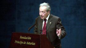George Steiner, durante su discurso al recibir el Premio Príncipe de Asturias.