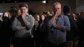Votantes de Joe Biden en su acto de campaña de primarias en Iowa.