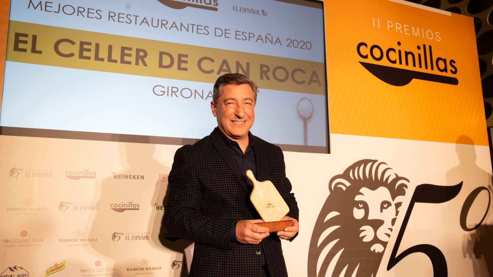 Joan Roca (Celler de Can Roca) tras recibir su Premio Cocinillas