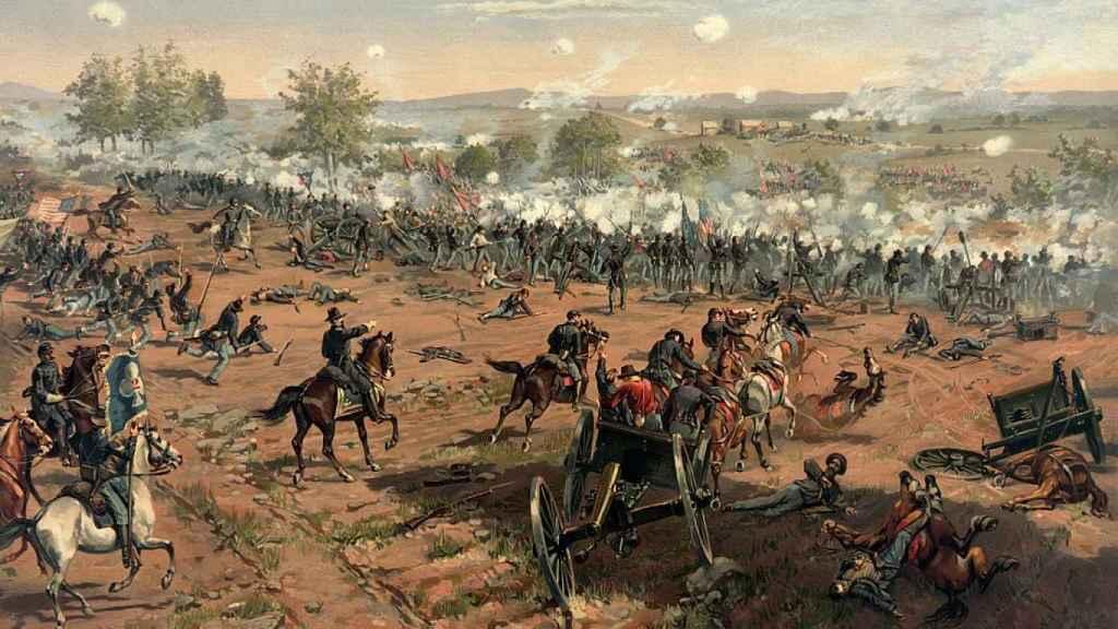 Ilustración de la batalla de Gettysburg.