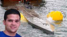La embarcación detenida el pasado 24 de noviembre en las costas gallegas y su piloto.