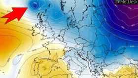 La borrasca Hervé en su trayectoria sobre las Islas Británicas y Francia. Severe-weather.eu.