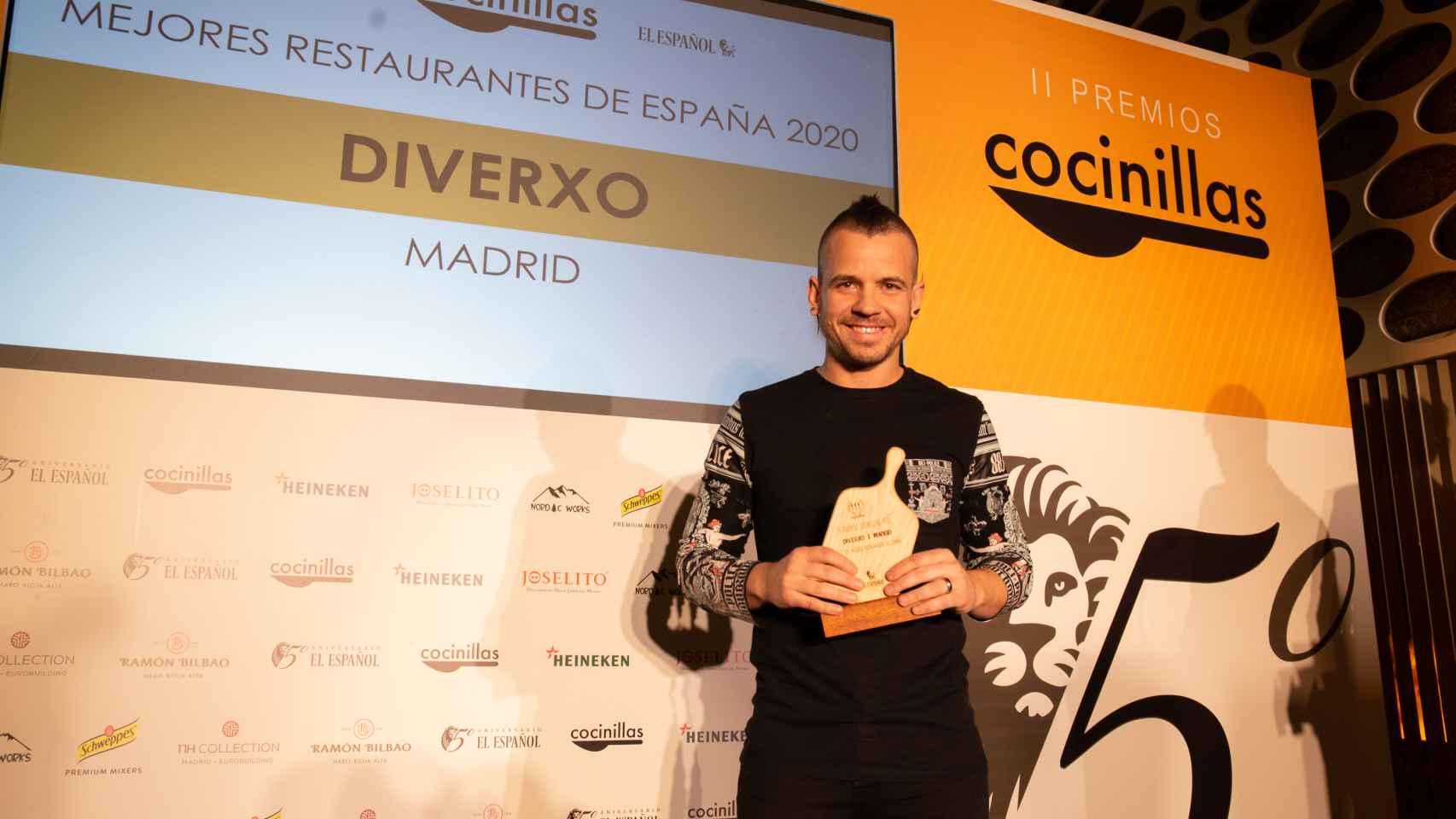 David Muñoz (DiverXO) recoge su Premio Cocinillas