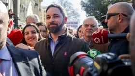Santiago Abascal y Rocío Monasterio en la manifestación de los agricultores este miércoles en Madrid.