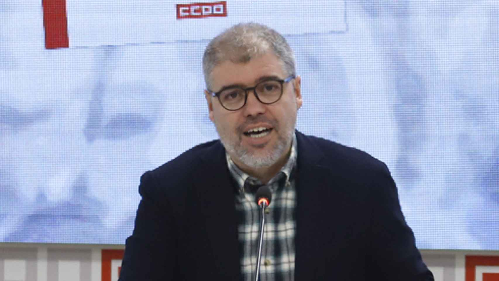 Unai Sordo, durante la presentación del informe de CCOO (Julián Rebollo).