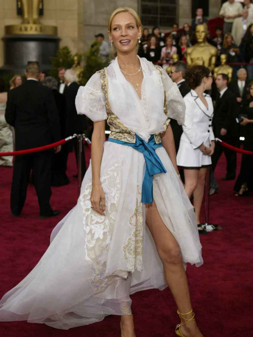 Uma Thurman has admitted that she was wrong with the design she wore at the Oscars in 2004.