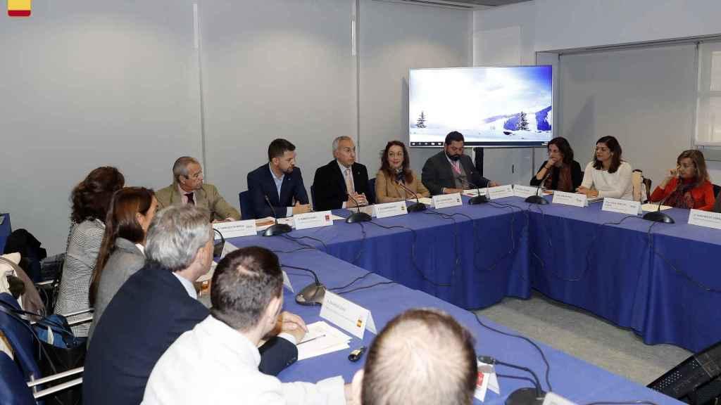Alejandro Blanco, junto a sus socios del Comité Olímpico Español