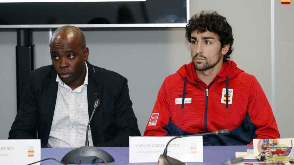 Joan Lino y Carlos Gómez Antón, durante la presentación