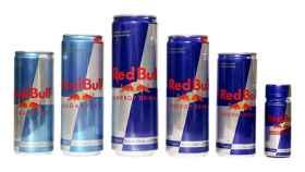 Unas latas de Red Bull.