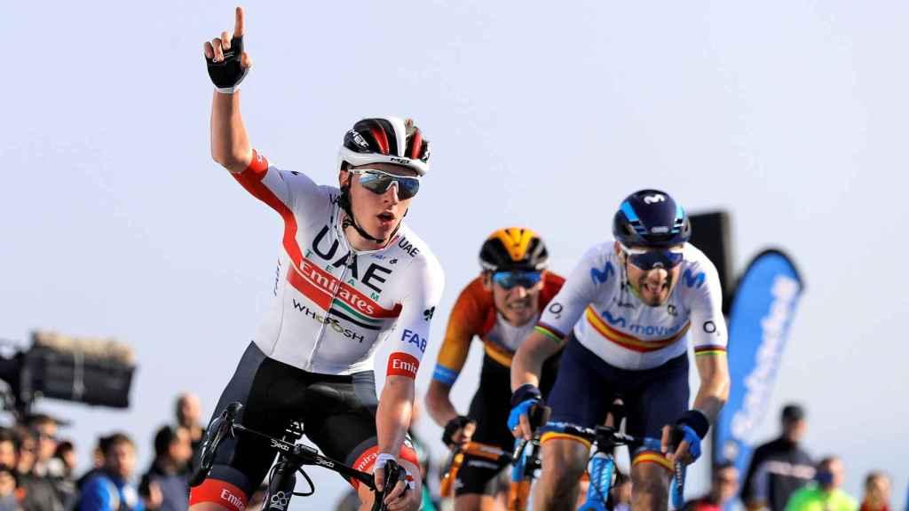 Tadej Pogacar se impone a Alejandro Valverde en la segunda etapa de la Vuelta a la Comunidad Valenciana