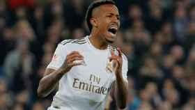 Eder Militao, durante un partido del Real Madrid
